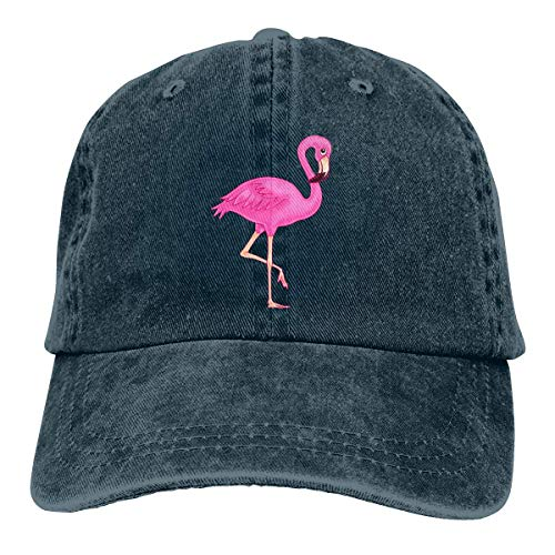 Baseballkappe Sport-Mütze Pink Flamingo Men's Women's Adjustable Jeans Baseball Hat Denim Fabric Trucker Hat Sports Cool Youth Golf Ball Unisex Cowboy hat Fedora Beach Hiking Skull 3D Printing caps -