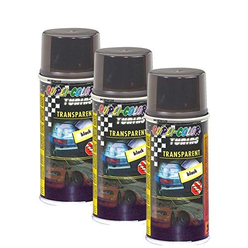 DUPLI_bundle 3X Dupli-Color Transpartent Black Spray Schwarz 150 ml 430213