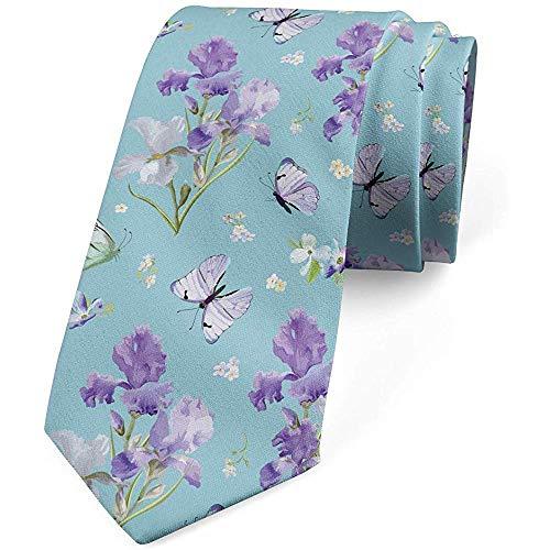 Herren Krawatte, Violet Iris Flower, Krawatte, Multicolor