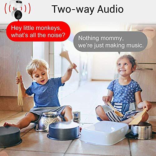 Wireless IP Kamera, ibell HD Wifi Überwachungskamera, Haus Baby Haustier Alter Monitor Sicherheitsüberwachung mit Nachtsicht, Zwei Wege Audio, Fernbedienung und Bewegungserkennung Funktion -720P