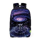 TEBAISE 3D Galaxis Muster Schultasche Mädchen Rucksäcke Unisex Kinder Mädchen Rucksack Schultasche Teenager Erwachsene Damen Herren Schulrucksack Freizeit Daypacks