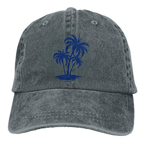 Oiup 089iuop Tropische Insel Mit Palme L?ssige Unisex-Baseballm¨¹tzen Washed Cowboy Hat Adjustable Trucker Hat -