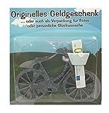 wertheim-deko Geldgeschenk Geschenkverpackung Fahrrad grau