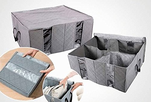 Shag 4 Part Clothes Organiser Folding Storage Box (60cm X 72cm X 30cm)
