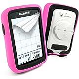 Tuff-Luv Silicone Double couche de peau cas de protection pour Garmin Edge 820 - Rose / Noir