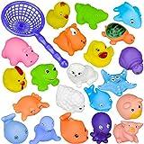 10 piezas de diferentes natación del juguete del baño del bebé de la diversión de la ducha chirridos Animales Juguetes para el baño