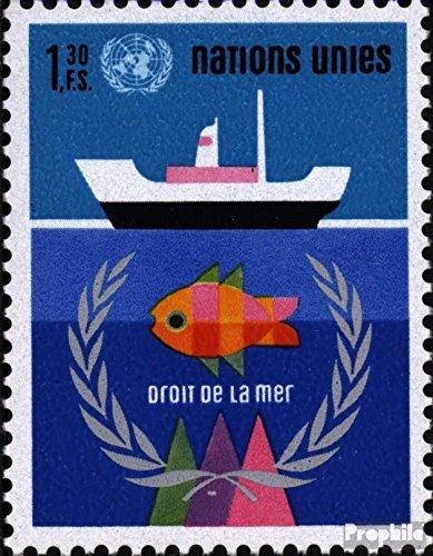 UNO - Genf 45 (kompl.Ausg.) 1974 Seerecht (Briefmarken für Sammler)