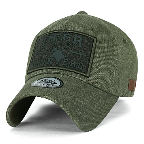 ililily Reh HUNTERS Kettverschnuss Flicken Tactical Operator Hut Baumwolle Baseball Cap , Olive Drab (Cap Cycling Cotton)