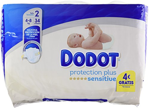 Dodot Sensitive - Pañales para bebés, talla 2 (4-8 kg), 1 pack...