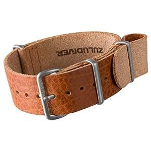 ZULUDIVER zul-hyi-187.1003s-sss-18–Bracelet de cuir, couleur brun (18)