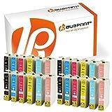 Bubprint 24 Druckerpatronen kompatibel für Epson T0801 - T0806 für Stylus Photo P50 PX650 PX660 PX700W PX710W PX720WD PX730WD PX800FW PX810FW PX820FWD