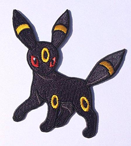 Toppa ricamata con Umbreon, evoluzione di Eevee, Pokémon Go, da cucire o applicare con ferro da stiro, per costume