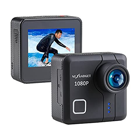 NEXGADGET 14MP Action Camera 1080P Waterproof Sports Camera 170 Degree Ultra Wide-Angle Lens DISCOVER-650