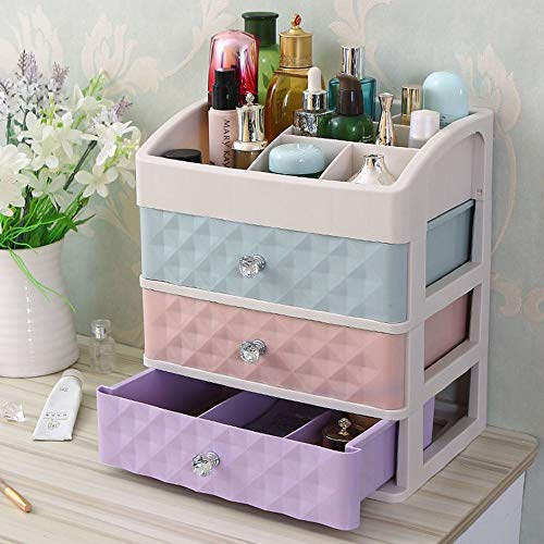 WEIWEITOE-DE Langlebige schmuckschatulle handgemachte Make-up aufbewahrungskoffer große Kosmetik Halter bilden Organizer tragbare kosmetikbox, bunt, 275 * 200 * 320mm -