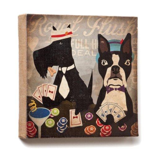 Demdaco Dogs Rock Wandschmuck mit Royal Flush, 12Zoll