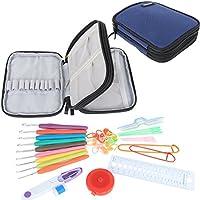 Damero Crochet Hook Set-with Organzer Case and Crochet Kit, Blu