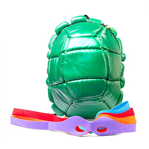 Teenage Mutant Ninja Turtles Turtle Shell Rucksack - Comes mit all four Augenmasken! (Ninja Turtles Shell Backpack)