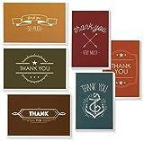Thank You Karten–48-count Thank You, Bulk Thank You Cards Set–blanko–auf der Innenseite, moderne, modernen Schriftart Stil inkl. Thank You Karten und Umschläge, 10,2x 15,2cm