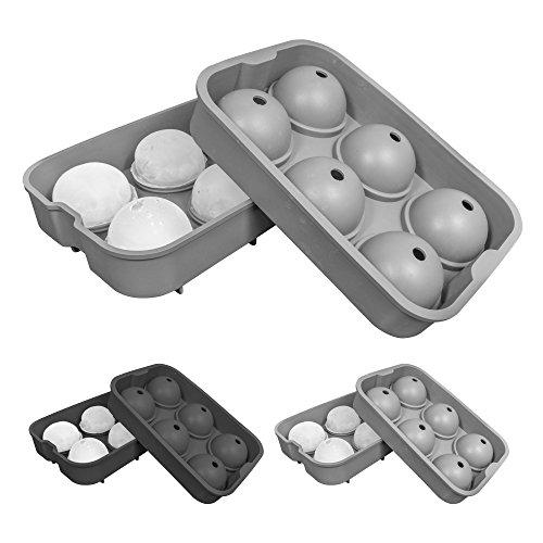 oishii XXL cubitos de hielo de forma de silicona para 6grandes bolas