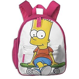 Simpson Kids Mochilas Escolares para niños Bolsa de Hombro para niños niñas Moda Bolsas