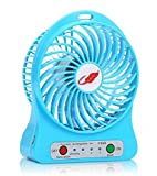 #3: HR Amaze Mini Portable USB Rechargeable 3 Speed Fan (Colors May Vary)