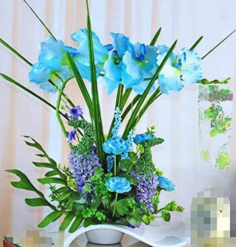 GN Gzz Deng Home Außenbeleuchtung Künstliche Blumen Wohnzimmer Schlafzimmer Orchidee Topf Blauen Vase eine Dekorative Gefälschte Blumen für Home Party und Garten Decor