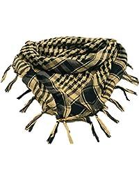 MiaoMa Aire Libre 100% Algodón Militar Táctica Shemagh Desierto Kufiyya Pañuelo Wrap Marrón Sección Delgada