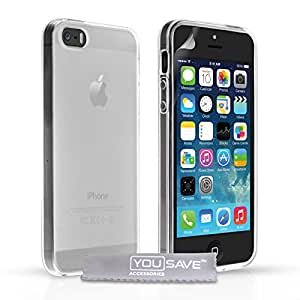 Yousave Accessories Silicone Gel Case for iPhone 5 / 5S - Clear / Transparent