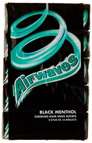 Airwaves Chewing-gum sans sucres aux goûts Menthol et Anis 70 g - Lot de 5