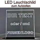 DELLOPTOELECTRONICS LED Leuchtschild Werbeschild 25x25cm -IHR MOTIV- Tischbild