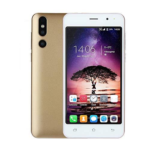 Fulltime E-Gadget Smartphone Mode 5,0 Zoll Doppel-HDCamera 512M RAM + 4G ROM Android 6.0 IPS-Bildschirm GSM/WCDMA-Touchscreen WiFi Bluetooth GPS 3G Dual-SIM Anruf-Handy (Gold)