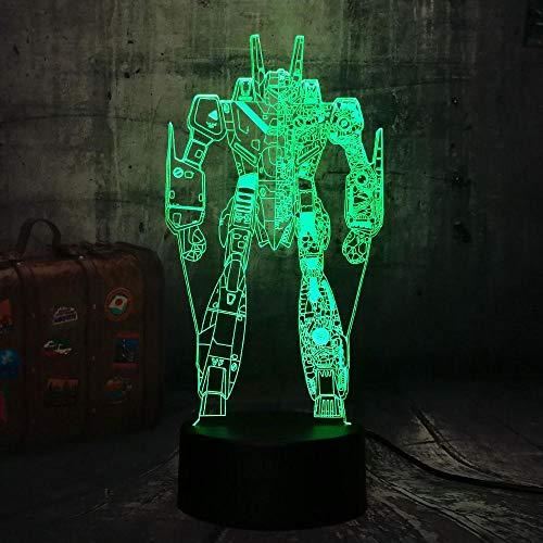 3D Lampe Leuchte LED Stimmungslicht Roboter 7 Farben Touch-Schalter Ändern Nachtlicht Für Schlafzimmer Hochzeit Weihnachten Valentine Geburtstag Geschenk