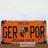 Cartel de chapa Placa metal tin sign retro nostálgico metalicas Luxury Car matrícula del coche Ayunar