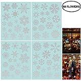 85 Fensterdeko Schneeflocken NICEXMAS Fensterbilder Schneeflocken(weiss) (68PCS)