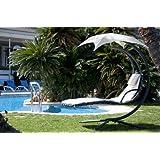SoBuy®Mecedora regulable con cojines,balancín jardín,hamaca helicóptero para tomar el sol ,Tumbona ,OGS16,ES