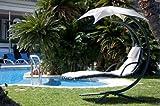 SoBuyMecedora regulable con cojines,balancín jardín,hamaca helicóptero para tomar el sol ,Tumbona...