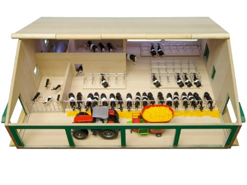 Kids Globe - 610495 - Etable avec salle de traite - 75 x 60 x 26,5 cm