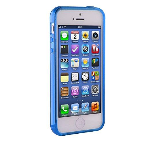 Urcover® iPhone 5 / 5s / SE Hülle, TPU / Silikon Schutzhülle Ultra Slim Transparent Crystal Clear durchsichtig Klar Case Cover Smartphone Zubehör Schale Handyhülle für Apple iPhone 5 / 5s / SE Farbe:  Hellblau