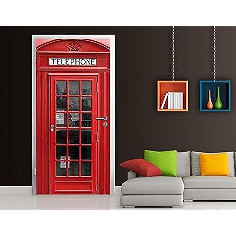 Fotomural para puerta con cola no.58 'TELEPHONE' 100x210cm, Größe:210cm x 100cm