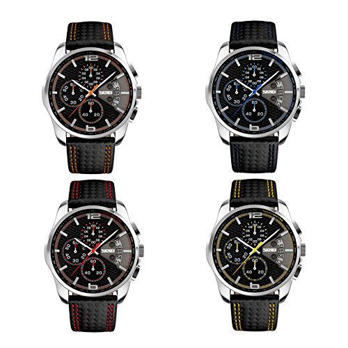IWatch 4pcs Set Hombre Reloj pulsera 30m Resistente