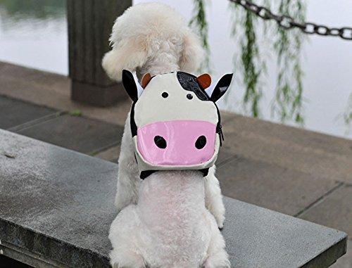 Mochila vaca para tu mascota llevara su agua, sus chuches sus toallitas y bolsas... y tambien tus cosas novedad en tiendas de mascotas peluqueria canina veterinario de OPEN BUY