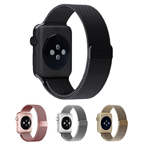 Smartwatch Armband,38mm Schwarz Milanaise Strap Armband Replacement Wrist Band für Apple Watch 38mm Serie1,2,3