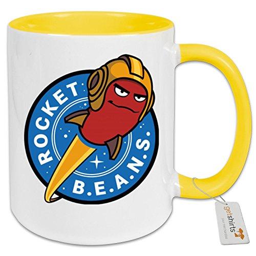 getshirts - Rocket Beans TV Official Merchandising - Tasse Color - Rocketbeans Logo - hellgelb uni
