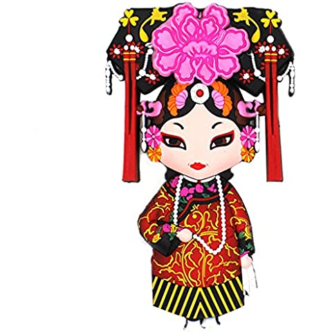 Sterxy grandi 3d pvc Magnete Per Frigorifero Magneti Opera cinese stile decorativo per la casa Cucina Sala da pranzo divertente magnetica Decor, PVC, Princess of Qing Dynasty,