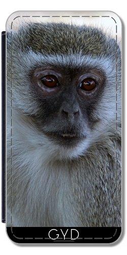 Leder Flip Case Tasche Hülle für Apple iPhone 5C - Affe Afrika Tier Säugetier by Grab My Art Lederoptik