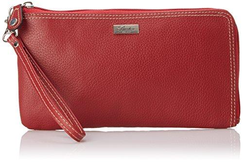 Buxton Damen Geldbörse Leder RFID l-zip um erweiterbares mit abnehmbarem Wri Gr. Einheitsgröße, Rot - Rot (Buxton Damen Geldbörse)