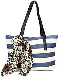 Fulltime(TM) Fashion Big Striped Plaid Ladies Handbags Shoulder Bags Clutches Women Bag