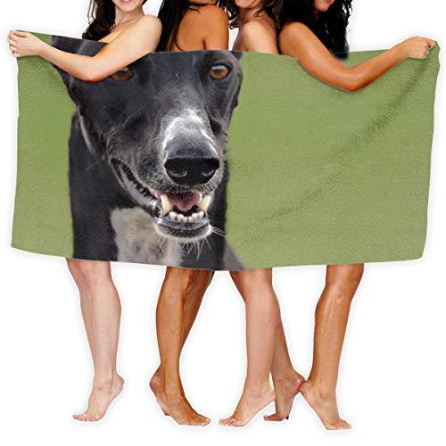 Sotyi-ltd Windhunde-Maulkorb für Haustiere, Strandtücher, Pool-Handtücher, Erwachsene, weich, saugfähig, 79 x 130 cm