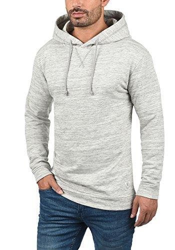 REDEFINED REBEL Murdock Herren Kapuzenpullover Hoodie Sweatshirt mit Kapuze aus hochwertiger Baumwollmischung Mid Grey