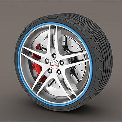 Opel Insignia azul anillo Rimblades Llanta de aleación Borde Borde Protectores neumáticos neumático guardia goma